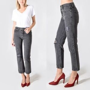 CURRENT/ELLIOTT Original Straight Cropped Jeans